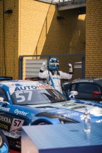 Winward racing nummer 57 Philip Ellis gewinnt ersten Lauf dtm lausitzring